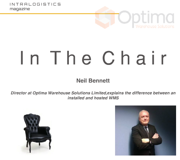 Image of Neil Bennett of Optima WMS in April 2017 Intralogistics Magazine
