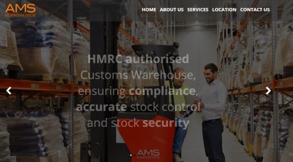 AMS DC Homepage Screenshot