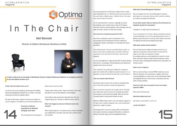 Neil Bennett interview with Intralogistcs Magazine screenshot