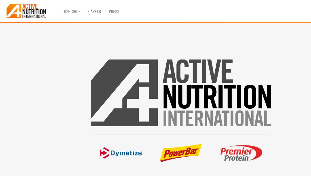 Active Nutrition Website Screenshot