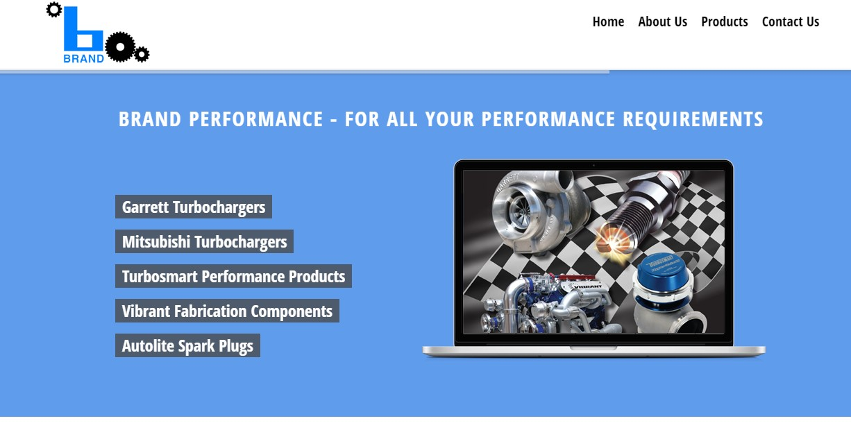 Brand Engineering Website Screenshot