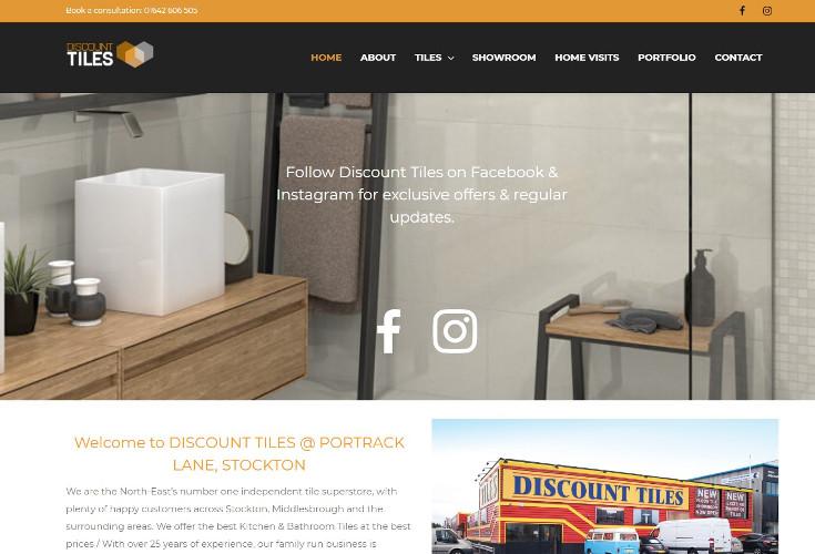 Discount Tiles Website Screenshot