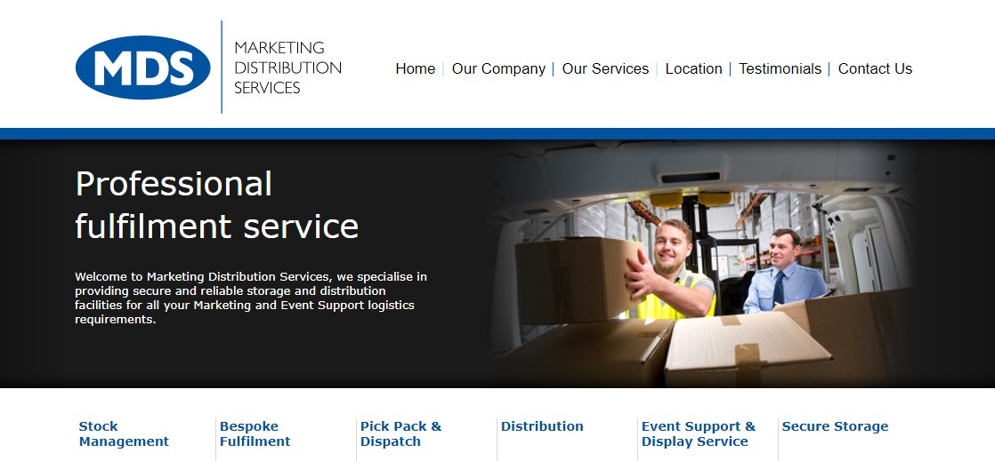 MDS - Marketing Distribution Services Website Screenshot