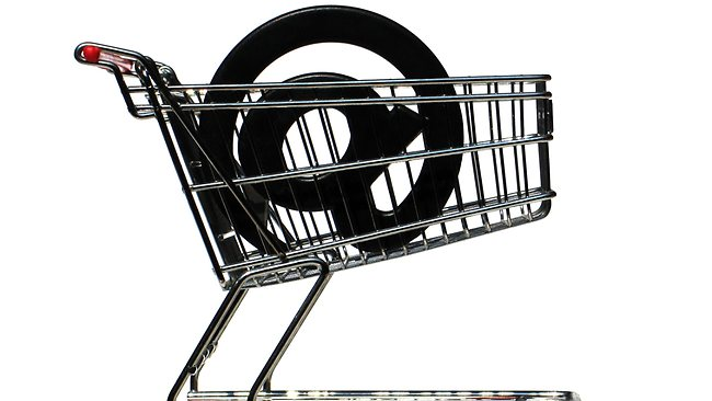 Shopping Trolley with @ Sign