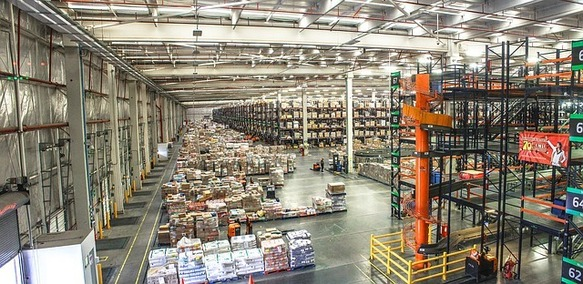 A huge warehouse