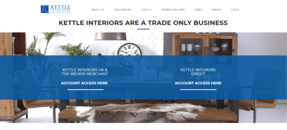 Kettle Interiors Website Screenshot