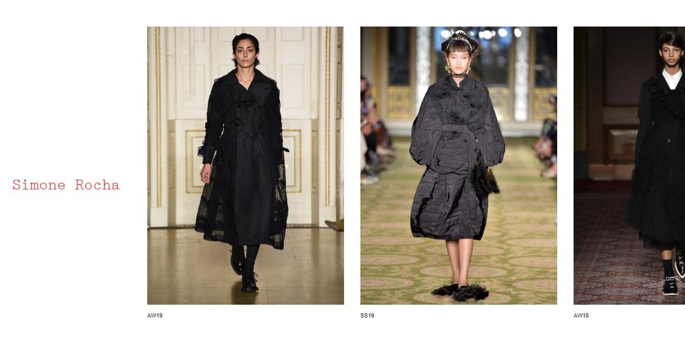 Simone Rocha Collection Website
