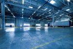 empty interior of warehouse